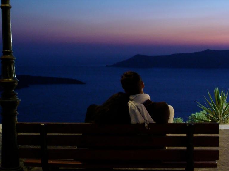 3. Hora azul (Blue hour)- logo após o pôr -do-sol. Santorini, Grécia, 2009